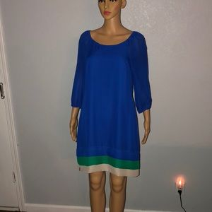 Ice Long Sleeve Blue Dress